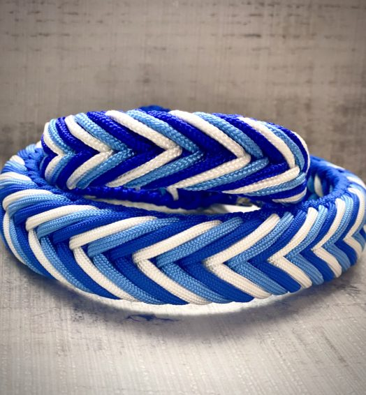 "Paracord Hundehalsband ""Blue motion"""