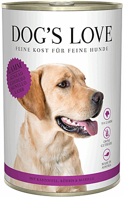 Dog's Love Nassfutter Lamm, Hundefutter Adult