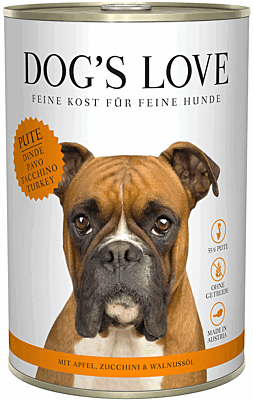 Dog's Love Nassfutter Pute, Hundefutter Adult