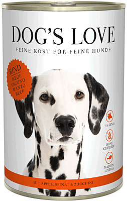 Dog's Love Nassfutter Rind, Hundefutter Adult