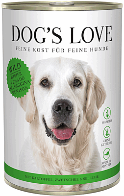 Dog's Love Nassfutter Wild, Hundefutter Adult