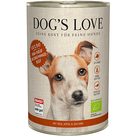 Dog's Love Bio Nassfutter Rind, Hundefutter Adult