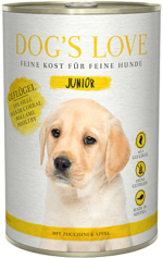 Dog's Love Nassfutter Geflügel, Hundefutter Junior